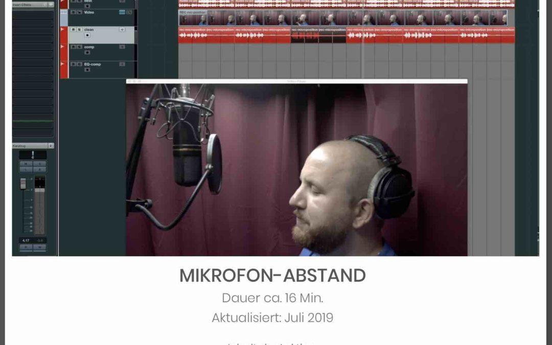 NEUE LEKTION – MIKROFON-ABSTAND